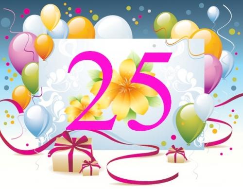 Мне сегодня 25 поздравления