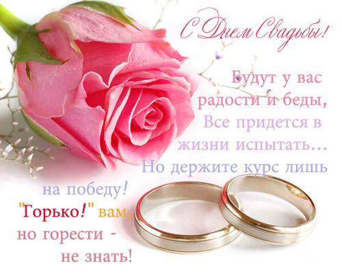 с днём свадьбы стихи