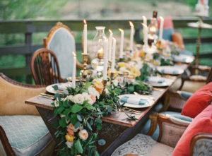 Стол на свадьбу в стиле бохо