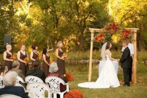 осенняя свадьба выездная регистрация