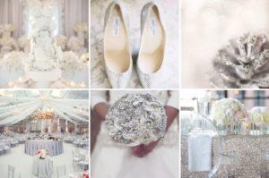 Зимняя свадьба в серебристом цвете