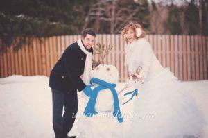 Зимняя свадьба в синем цвете